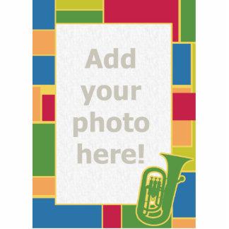 Escultura de la foto de Colorblocks del Euphonium Fotoescultura Vertical
