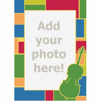 Escultura de la foto de Colorblocks del violoncelo Fotoescultura Vertical