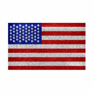 Escultura de la foto de la bandera americana del v escultura fotográfica