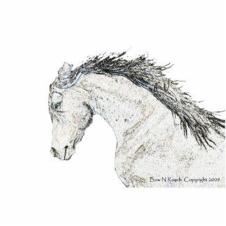 Escultura de la foto de la cabeza de caballo esculturas fotográficas
