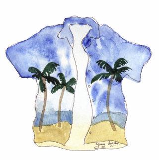 Escultura de la foto de la camisa hawaiana escultura fotografica