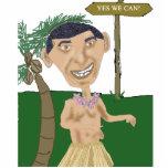 Escultura de la foto de la caricatura de Obama Fotoescultura Vertical