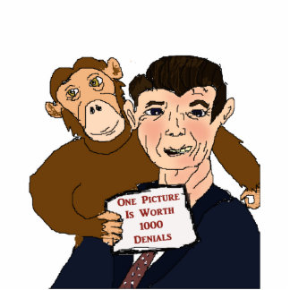Escultura de la foto de la caricatura de Ronald Re Fotoescultura Vertical