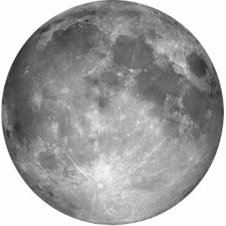 Escultura de la foto de la Luna Llena Fotoescultura Vertical