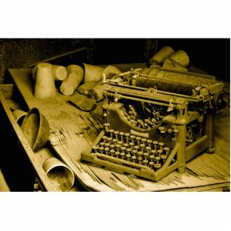escultura de la foto de la máquina de escribir fotoescultura vertical