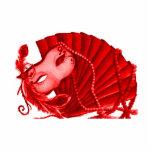 Escultura de la foto de la mascarada de la tarjeta fotoescultura vertical