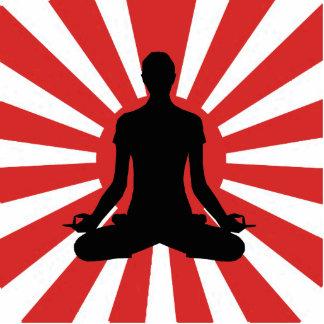 Escultura de la foto de la meditación de la yoga d fotoescultura vertical