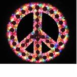 escultura de la foto de la paz de 5 colores esculturas fotograficas