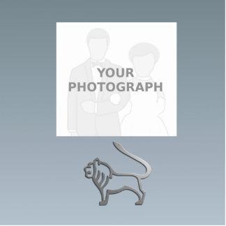 Escultura de la foto de la plata de la luz de la fotoescultura vertical