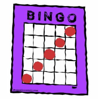 Escultura de la foto de la tarjeta del bingo del d escultura fotografica