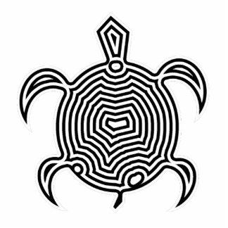 Escultura de la foto de la tortuga del laberinto adorno fotoescultura