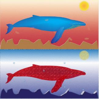 Escultura de la foto de las ballenas esculturas fotográficas