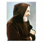 Escultura de la foto de Padre Pio Escultura Fotografica