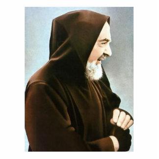 Escultura de la foto de Padre Pio Fotoescultura Vertical