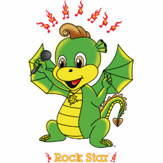 Escultura de la foto de Rockstar™ del dragón Fotoescultura Vertical
