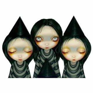 Escultura de la foto de tres hermanas de Witchy Escultura Fotografica
