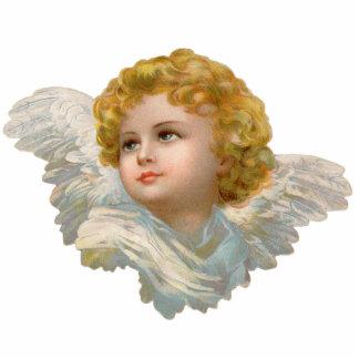 Escultura de la foto del ángel del vintage fotoescultura vertical