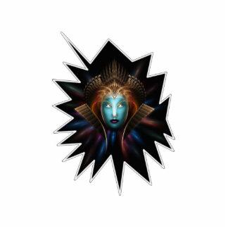 Escultura de la foto del arte del fractal de la fotoescultura vertical
