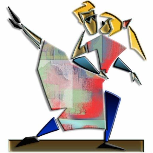 Escultura de la foto del baile fotoescultura vertical