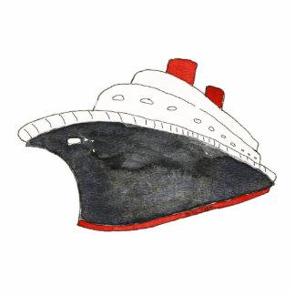 Escultura de la foto del barco de cruceros fotoescultura vertical