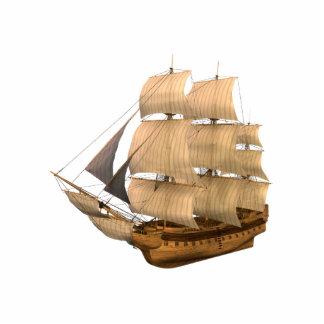 Escultura de la foto del barco pirata del KRW Fotoescultura Vertical