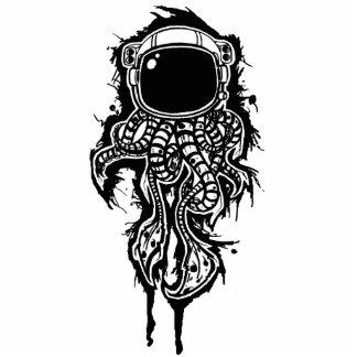 escultura de la foto del calamar del espacio fotoescultura vertical