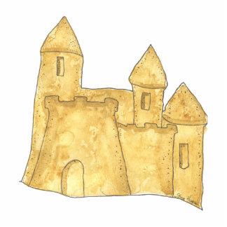 Escultura de la foto del castillo de la arena fotoescultura vertical
