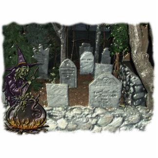 Escultura de la foto del cementerio de la bruja esculturas fotográficas