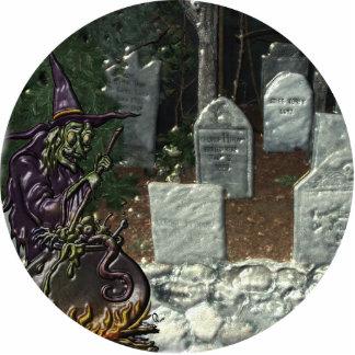 Escultura de la foto del cementerio de la bruja escultura fotografica