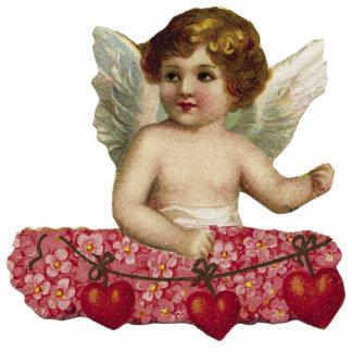 Escultura de la foto del Cupid del vintage Fotoescultura Vertical