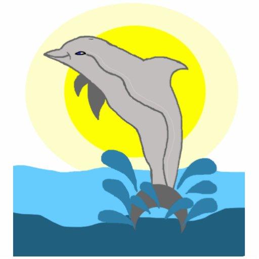 Escultura de la foto del delfín de Nai'a Fotoescultura Vertical