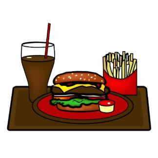 Escultura de la foto del disco de la hamburguesa fotoescultura vertical