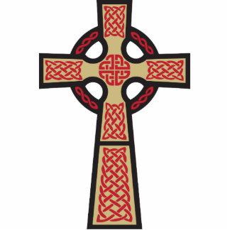 Escultura de la foto del Doodle de la cruz céltica Fotoescultura Vertical