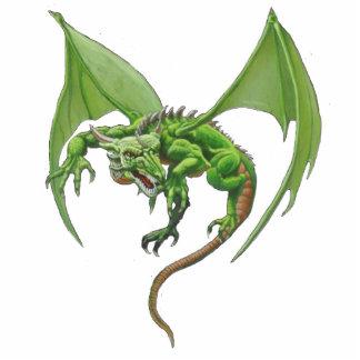 Escultura de la foto del dragón adorno fotoescultura