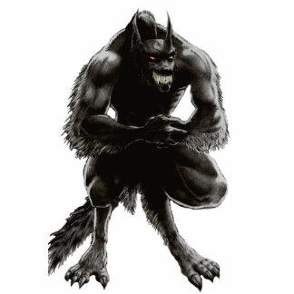 Escultura de la foto del hombre lobo imán fotoescultura
