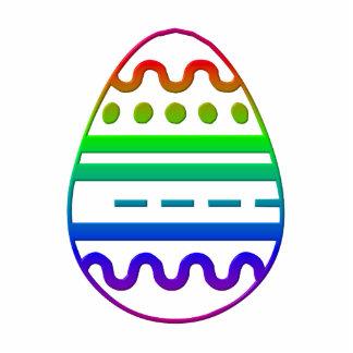 Escultura de la foto del huevo de Pascua Fotoescultura Vertical