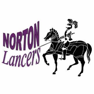 Escultura de la foto del lancero de Norton Fotoescultura Vertical