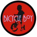 Escultura de la foto del muchacho de la bicicleta esculturas fotográficas