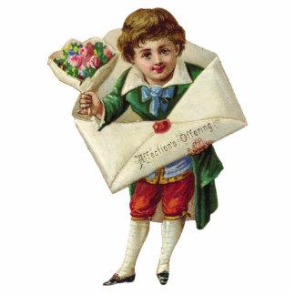 Escultura de la foto del muchacho del vintage esculturas fotográficas
