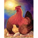 Escultura de la foto del pollo de la flor de la am escultura fotografica