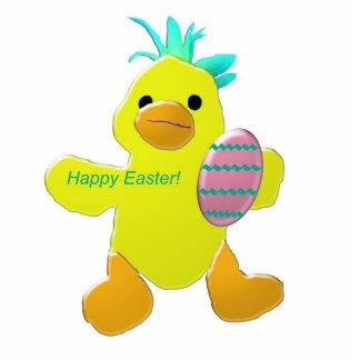 Escultura de la foto del polluelo de Pascua feliz Esculturas Fotograficas