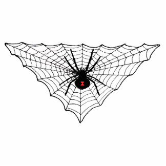 Escultura de la foto del Web de araña de la viuda  Fotoescultura Vertical