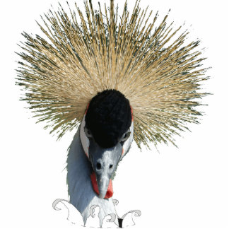 Escultura de la foto - grúa coronada fotoescultura vertical