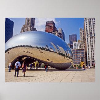 Escultura de la haba de Chicago Póster
