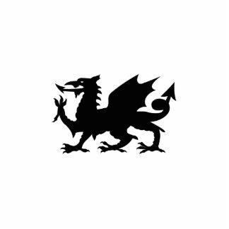 Escultura de la heráldica del dragón fotoescultura vertical