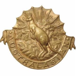 Escultura de la insignia del gorra de Skippy del a Escultura Fotografica