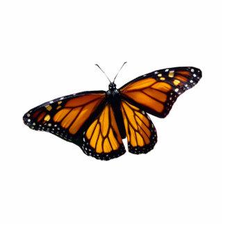 Escultura de la mariposa de monarca fotoescultura vertical