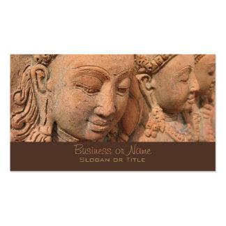 Escultura de la piedra de la deidad hindú tarjetas de visita