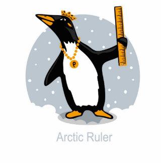 Escultura de la regla del pingüino escultura fotográfica