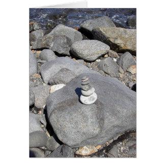 Escultura de la roca felicitaciones
